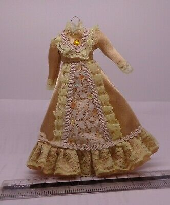 1:12 Scale  Lady Victorian Dress Dolls House Miniature Dress