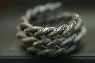 Ancient Viking Hair / Beard Ring, c 950-1000 Ad. Hammered Silver Norse Spiral