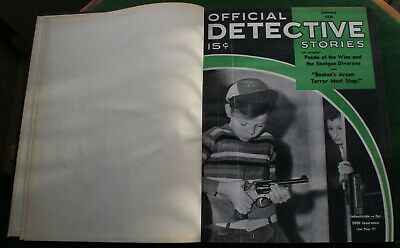Rare Bound Volume of Official Detective Stories Magazine January – June 1939