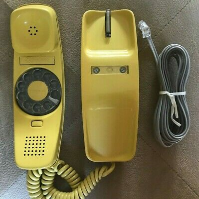 NOS Western Electric - Bell System Trimline Rotary Telephone Desk Yellow