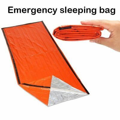 Portable Emergency foil Reusable Waterproof Rescue Space Thermal orange  Bag Out