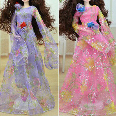 12 inch Doll Outfit Bride Dress Evening Party Gown for Kurhn Dolls Purple