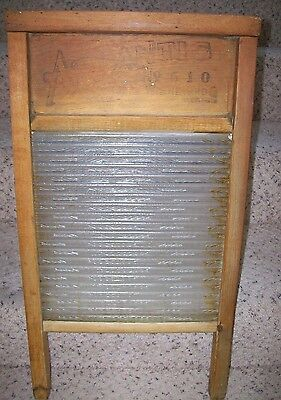 Antique Atlantic National No. 510 glass washboard