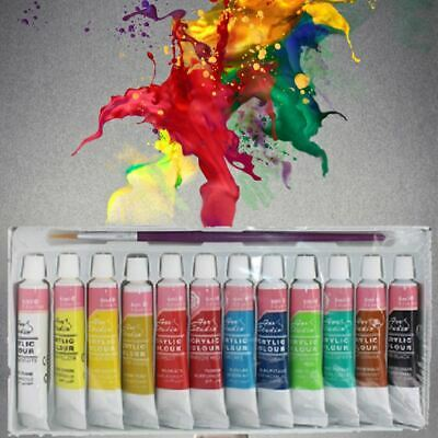 DIY paiting 12 Colors Professional Acrylic Paints Set Hand Painted Wall Painting
