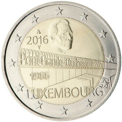 2 Euro Luxembourg 2016 Grand Duchess Charlotte Bridge Unc