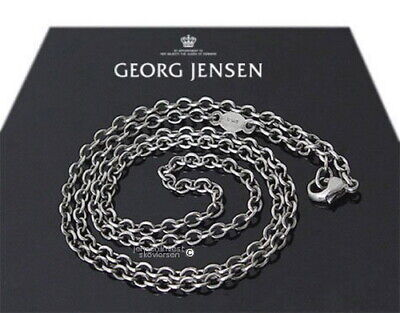 """Georg Jensen Sterling Silver Oxidized  Anchor Chain  17  3/4""""  **free Shipping**"""