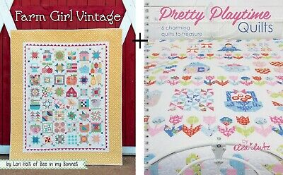 2 Books LORI HOLT of Bee in my Bonnet: FARM GIRL VINTAGE and PRETTY PLAYTIME