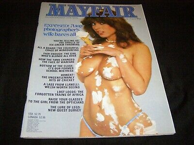 Mayfair Vintage Men'S Magazine Vol 17 No 8 Year 1982
