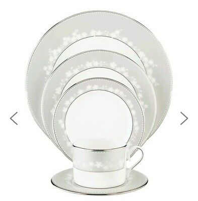 Lenox Bellina Bone China Platinum Banded 5-Piece Place Setting Service for 1
