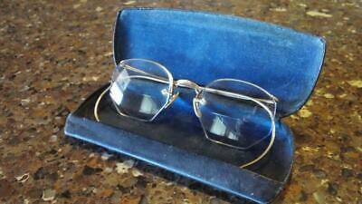"Vintage American Optical 12K GF Semi Rimless ""Granny"" Eyeglasses with Case"