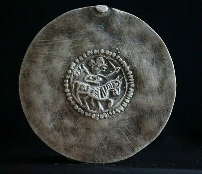 Ancient Viking Hammered Silver Bracteate Amulet of Norse Horseman, c 950-1000 Ad