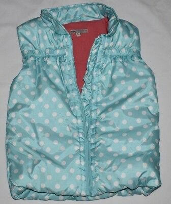 GIRL'S 6-7 YRS 112 Cm POLKA DOTS BLUE GILET BODYWARMER WINTER COAT NEXT DAY POST