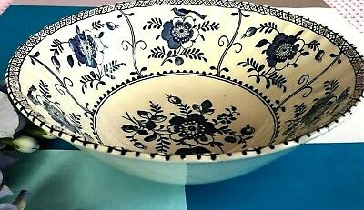 "Vintage Johnson Bros Large ""Indies"" 8"" / 20.5 cm  Ironstone Pottery Fruit Bowl"