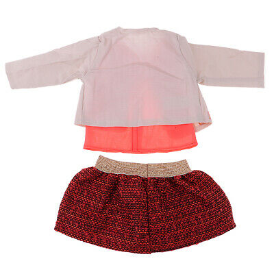 Doll Accessories Coat, Top & Skirt Suit for 18inch AG American Doll Dress Up
