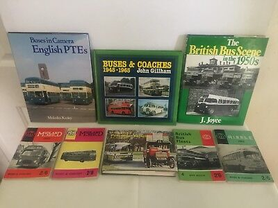 4 x Books British Buses and Passenger Vehicles + 4 x Small Books, 2 with Maps.