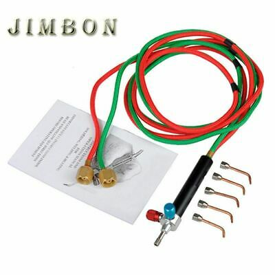 Mini Gas Welding Torch for Oxygen & Acetylene with 5 Tips Used In Jewelry Tools