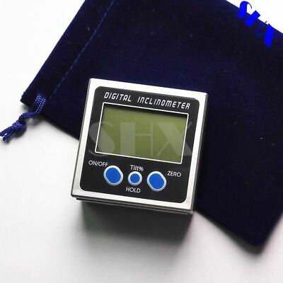 Digital Protractor Inclinometer Level Box Level Measuring Tool Electronic Angle