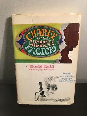 Charlie And The Chocolate Factory HCDJ. Roald Dahl. Illustrated. 1964