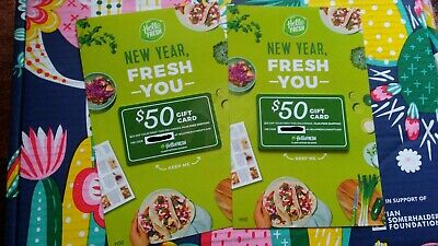 2 $50 HelloFresh Gift Cards, $100 total value, healthy meal delivery, FabFitFun