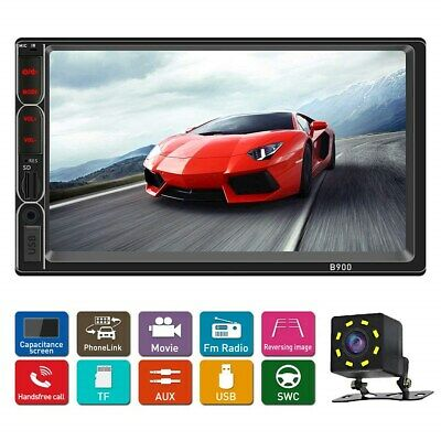 Double din car Stereo with Bluetooth 7 inch Car Radio with Backup Camera Touch