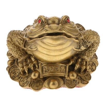Chinese Feng Shui Money LUCKY Fortune Wealth Frog Toad Tabletop Ornaments