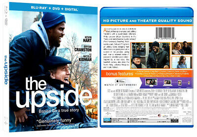 THE UPSIDE New Sealed Blu-ray + DVD + Digital Kevin Hart Bryan Cranston N Kidman