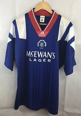 Rangers Ally McCoist 9 Signature Home Football Shirt 1992/94 Adults Large Adidas