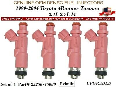 Denso Fuel Injector for  4 Runner Tacoma 2.4 2.7 Lifetime Warranty 23250-75080