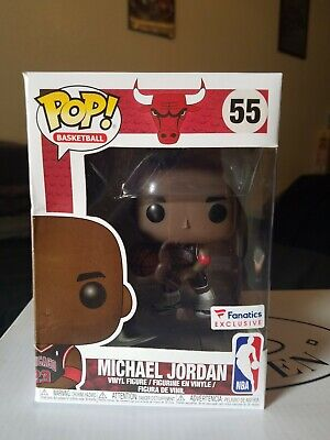 Funko POP Michael Jordan Fanatics Exclusive NBA Chicago Bulls Black Jersey RARE