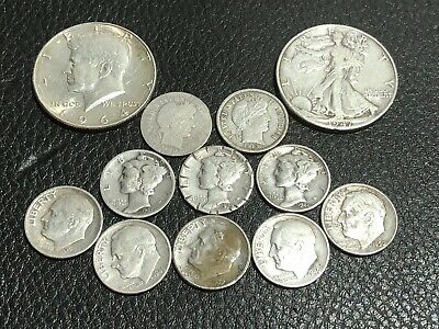 US Silver Coin Lot, No Reserve! 12 Coins
