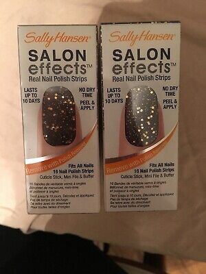 (2) Sally Hansen Salon Effects Real Nail Polish Strips, Lust-Rous, 16 Count