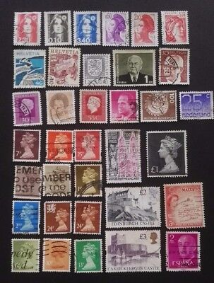 Assorted European Stamps - Used - 35 Stamps