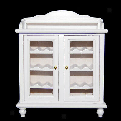1/12 Scale Doll House Miniature Wooden Wine Cabinet Room Furniture Accessory