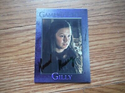 Hannah Murray Autographed Game Of Thrones Card Hand Signed Gilly
