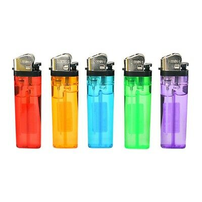 5x Full Size Classic Cigarette Lighters Assorted Color Multipurpose Gas Lighters