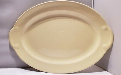 """Vintage Lu-Ray Pastels Oval Serving Platter YELLOW 11 1/2"""" Serving Plate Dish"""