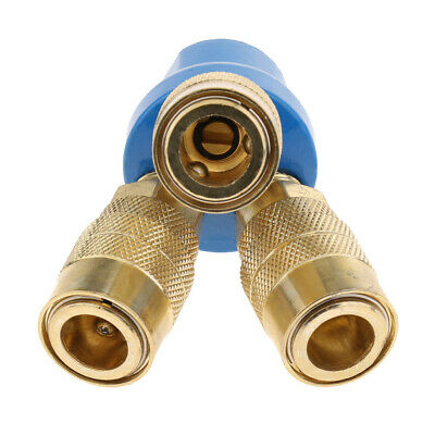 3 Way Air Hose Manifold Quick Coupler Connector Fitting Adapter / Splitter