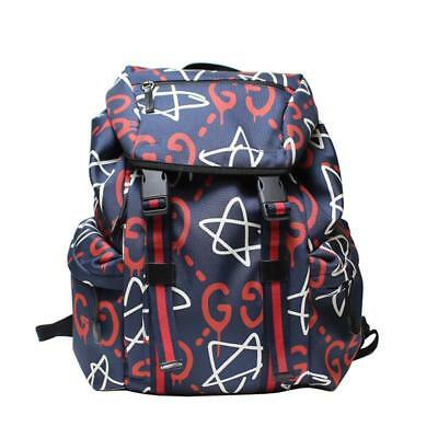 limited guantity buy online here GUCCI GHOST SAC à Dos Épaule Jour Sac Toile Marine 429037 ...