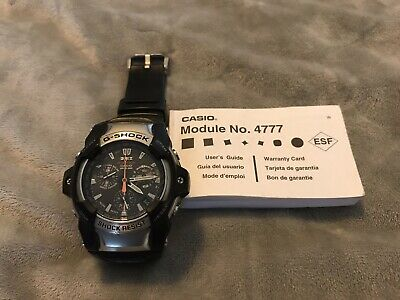 Mens Casio Giez Gs 1001 Analog Chronograph Tough Solar G Shock Watch 4777
