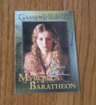 Aimee Richardson Autographed Game Of Thrones Card Hand Signed Myrcella Baratheon