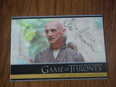 Ian Hanmore Autographed Game Of Thrones Card Hand Signed Pyat Pree LIGHT SIG