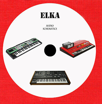 Elka audio repair schematics on 1 cd in pdf format