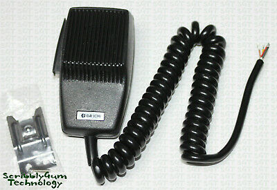 CB Radio Dynamic Microphone with 1.8m Curly Cord and Mic Clip (Requires Plug)