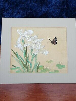 Chinese Japanese  Original Painting On paper Butterfly Vintage