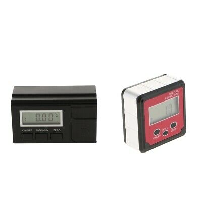 LCD Digital Protractor Angle Meter Gauge Level Inclinometer Black/Red Color