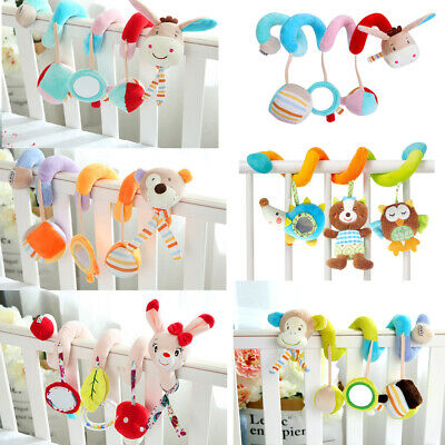 Baby Toys Activity Spiral Bed & Stroller Toy Set Hanging Bell Crib Rattle Toys
