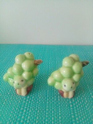 Anthropomorphic sad grapes Salt And Pepper Shakers