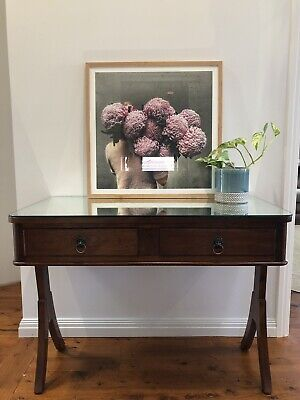 Antique Mirrored Console Side Hall Table