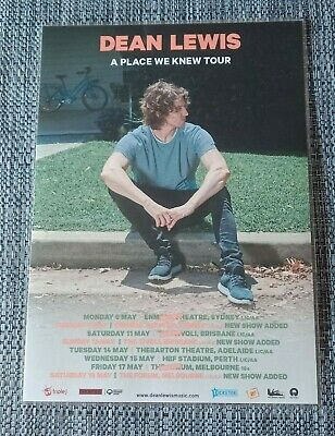 DEAN LEWIS - 2019 AUSTRALIA TOUR - A PLACE WE KNEW - Laminated Promo Tour Poster