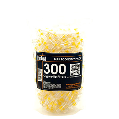 Disposable Cigarette Filters, 300 Pack - Efficient Smokers Tar Block System New